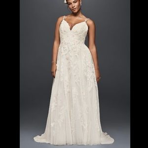 Scalloped Plus Size Wedding Dress - Melissa Sweet